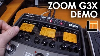 Zoom G3X Guitar Effects & Amp Simulator Pedal Demo
