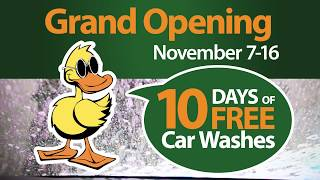 Conroe Quick Quack Car Wash Grand Opening - 10 Days Free - Now Open!