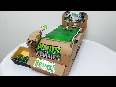 How to make Plant vs Zombies -Cardboard Game (Diy)