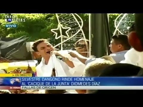 Funeral Diomedes Díaz: Silvestre Dangond llora a 'El Cacique de la Junta'