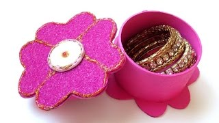 DIY : Flower Jewelry Box | Gift Box - Recycling Cardboard