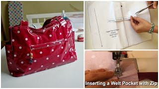 How to insert a Welt Pocket (Out & About Pattern)