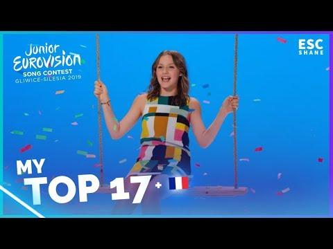 Junior Eurovision 2019: My TOP 17 (So far)