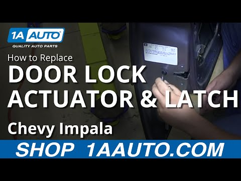 How To Install Replace Front Power Door Lock Actuator Latch 2006-12 Chevy Impala