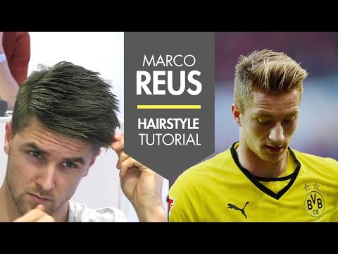 How to style your hair like Marco Reus fresh footballer hair tutorial men's soccer player look