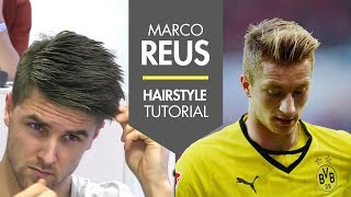 How to style your hair like - Marco Reus fresh footballer hair tutorial men's soccer player look