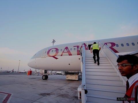 QATAR Airways 787-8 Dreamliner Riyadh to Doha | القطرية من الرياض إلى الدوحة