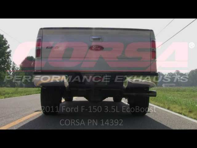CORSA Performance Exhaust 2011 Ford F150 EcoBoost PN 14392