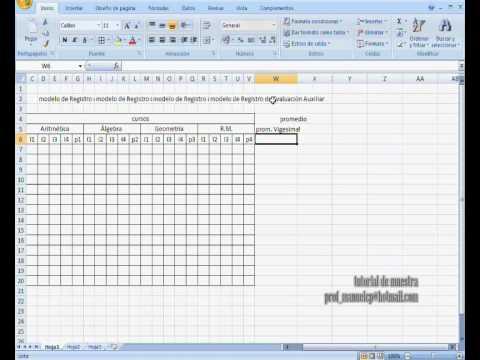 Elaboracion de un Registro AUTOMATICO en Excel 2007 PARTE1.wmv
