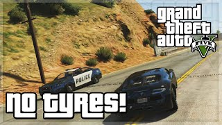 "GTA V - ""No Tyres!"" - GTA 5 Funny Moments w/ The Sidemen!"