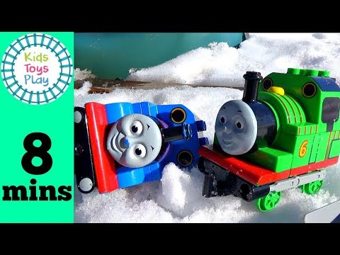 Thomas Friends Duplo LEGO Train Crashes | Playing with Toy Trains Video for Kids | Accidents Happen