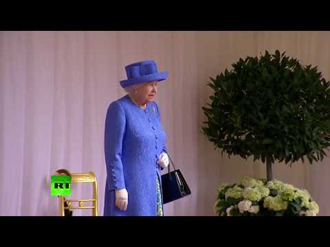 LIVE: Donald and Melania Trump arrive at Windsor to meet the Queen