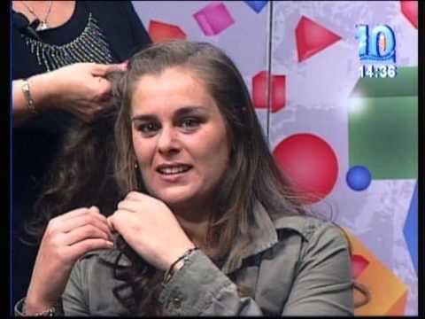 Adri Lescano con la Tendencia en Peinados Primavera/Verano 2013 en Tardes con Lu