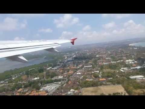 Takeoff Denpasar Bali with AirAsia Indonesia A320 PK-AXF