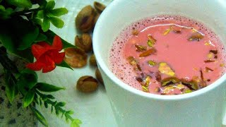 Kashmiri Chai Recipe - کشمیری چائے - Pink Tea Recipe - Gulabi Chai by Lively Cooking