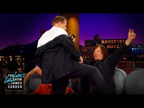 Norman Reedus Gets a Lap Dance
