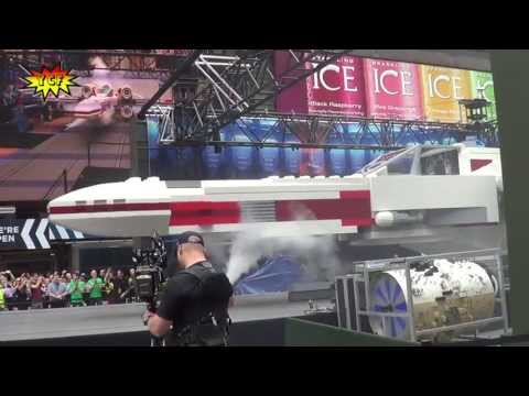 World's Largest LEGO Model Creation Star Wars X-wing Starfighter 2013 NYC Times Square