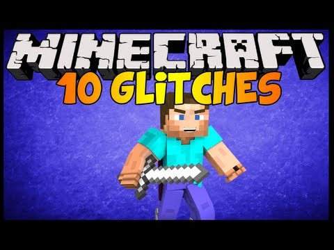 Minecraft 1.6.4 (1.8) 10 Glitches in ONE VIDEO Voice Tutorial [Part 1]