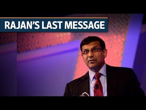 Outgoing RBI governor Raghuram Rajan's parting shot   Video