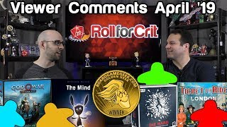 Your Golden Geek Awards Reactions | Viewer Comments April '19