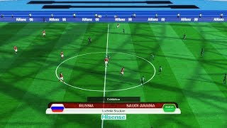 PES | Russia vs Saudi Arabia | Full Match | FIFA World Cup 2018 | Gameplay PC