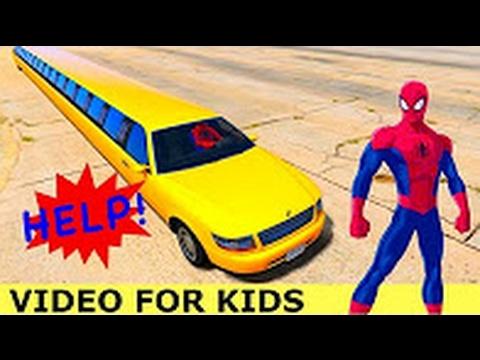Человек-паук Автомобиль Длина Бережливый Автомобиль Анимационный Фильм Для Детей