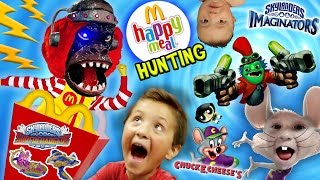 SHOCKING KIDS! McDonalds Happy Meal Toys Hunting, Skylanders Imaginators, Netflix en Chuck E. Cheese