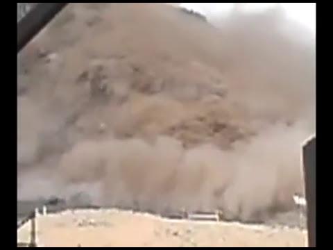 derrumbe de mina Los Bronces en lo Barnechea