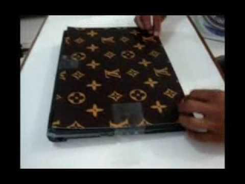 cara pasang stiker cover laptop d tech