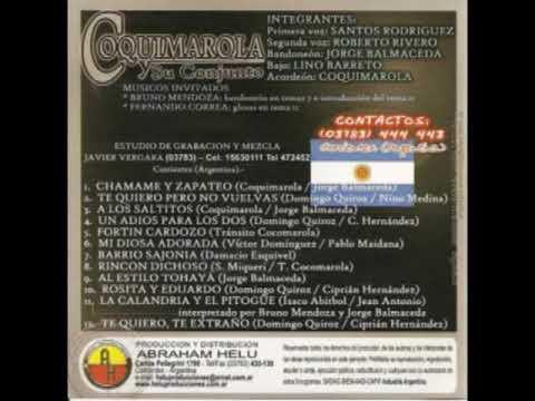 Coquimarola y su Conjunto - Chamamé y pico -disco entero-