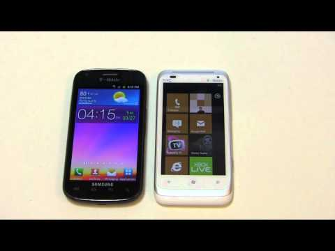 Samsung Galaxy S Blaze 4G vs. HTC Radar 4G Dogfight Part 1