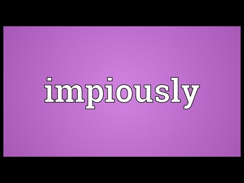 Header of impiously