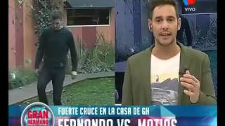 Habra sancion para Fernando por agredir a Matias Gran Hermano 2015
