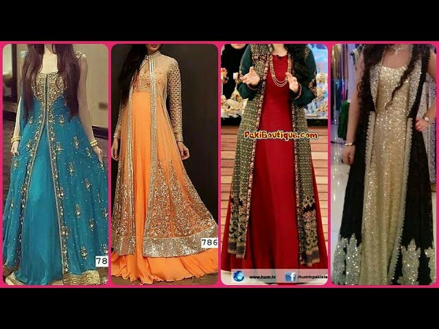 Very Attractive Beautiful amp Stylish Party Wear Long Gown With Maxi Dress Designs 2019