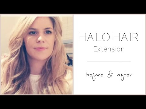 Halo Hair Extension Deluxe Review - Before/After/Styling