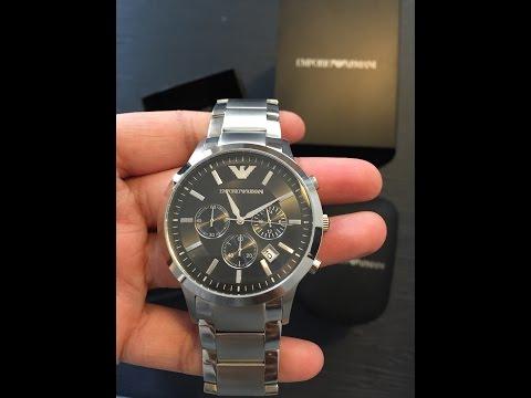 emporio armani men 39 s renato chronograph watch ar2434. Black Bedroom Furniture Sets. Home Design Ideas