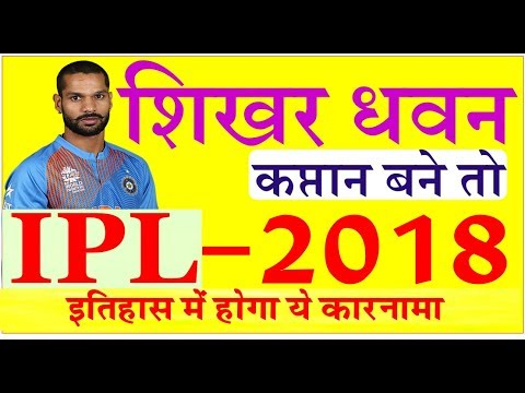 IPL 2018 - Live Cricket News Updates || IPL 11 Latest News Headlines Auction Shikhar Dhawan Captain