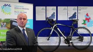 Dyfed-Powys Police and Crime Commissioner Dafydd Llywelyn on TourdeForce