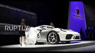 USA: Porsche unveils 911 Speedster at New York car show