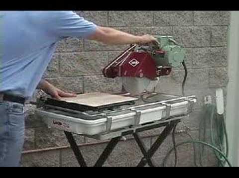 Mk 101 Tile Saw Demonstration Video Youtube