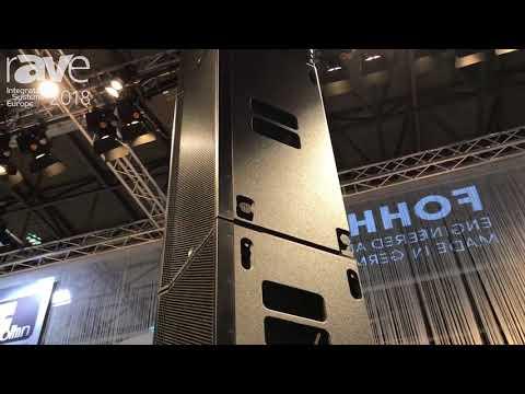 ISE 2018: Fohhn Audio Highlights Focus Venue Straight Line Array Speakers