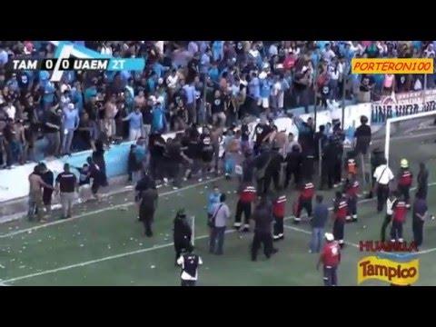 Tampico-Madero VS UAEM | FINAL Vuelta | Altercado en el Estadio Tamaulipas  : Porteron100 [2016]