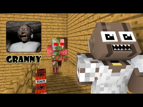 Monster School: GRANNY HORROR GAME CHALLENGE - Minecraft Animations