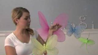 Nylon Hanging Butterfly &amp; Flowers For Kids Party, Children's Room &amp; Nursery Butterfly Decorations