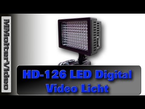 HD126 LED Digital Video Licht für DSLR SLR Kamera Unboxing & Test von MMolterVideo
