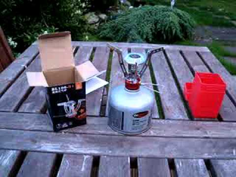 Ultra compact. folding camping gas stove PIEZO ignition