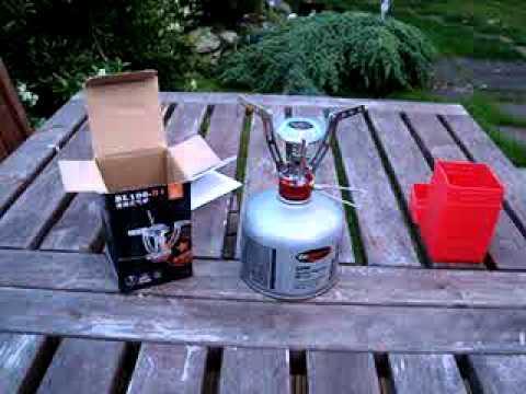 Ultra compact. folding camping gas stove PIEZO ignition