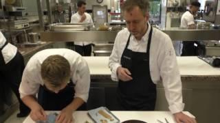 Elverfeld prepares a 'Stulle' starter at the 3 Michelin star restaurant Aqua