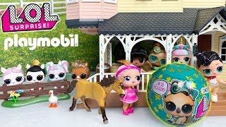 LOL Dolls + Playmobil | LOL Surprise Supreme Pet Playmobil Videos | Spirit Riding Free + LOL Pets