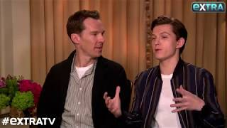 Benedict Cumberbatch Tries to Keep Tom Holland from Giving 'Avengers: Infinity War' Spoilers